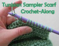Tunisian Sampler Scarf Crochet-AlongScarf Crochet Along, Crochet Sampler, Sampler Scarf, Tunisian Sampler, Tunisian Crochet, Scarf Crochetalong, Crochet Tunisian, Crochet Pattern, Crochet Inspiration Tutorials