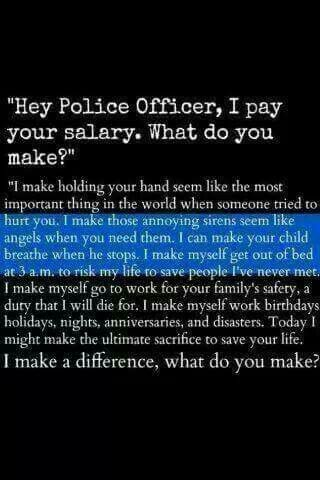 A police officers salary