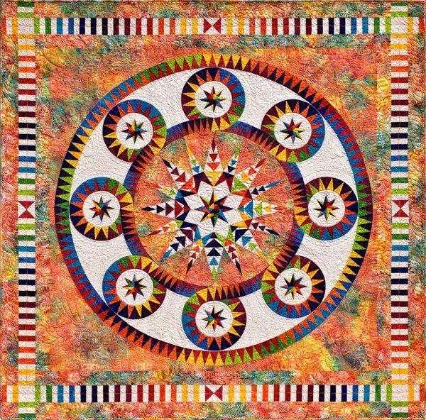 Wheel Of Fortune 75 X 75 Quot Quilt By Jacqueline De Jonge