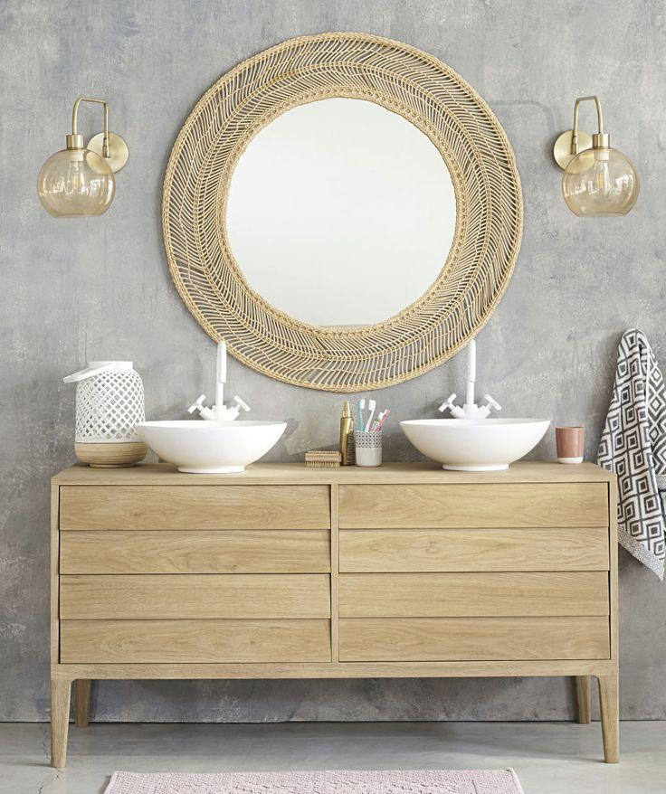 White 4 drawer vanity unit in 2019 bathroom decor - White wicker bathroom accessories ...