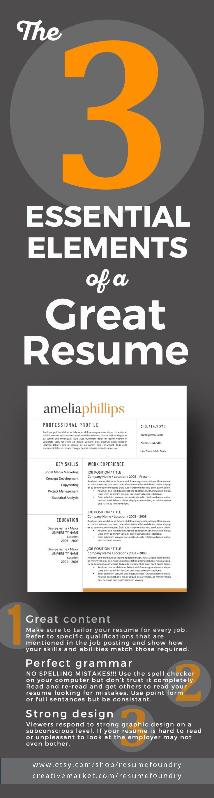 3 Key Design Features EVERY resume in