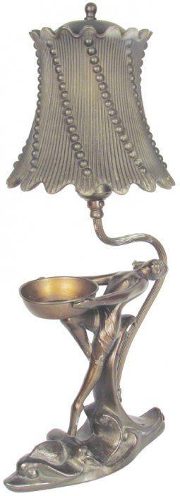Bronze Art Deco Lamp : Lot 1423