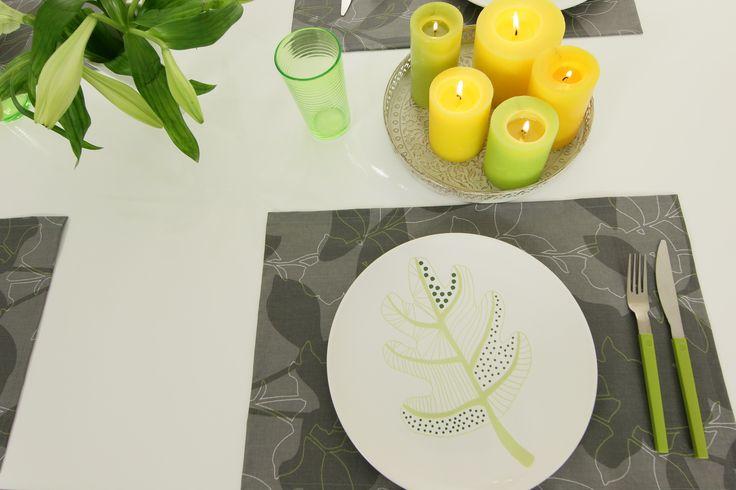Abwaschbare Tischsets Farbe Anthrazit