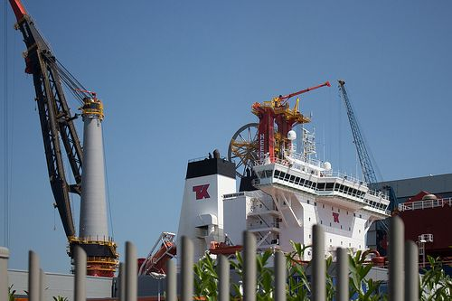 Heerema Aegir and Navion Oceania docked at Wiltonhaven Rotterdam #Wiltonhaven #Rotterdam #Harbor #Dock #010 #Holland #Sky #Blue #Sunny #Architecture #Urban #City #World #Port #Netherlands #Roffa #Canon #700D #Photography