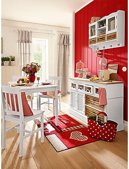 Meeting fire and ice: the red and white kitchen