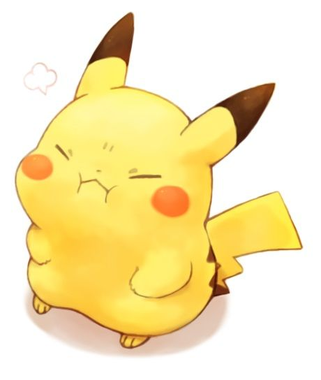 Cute Pikachu Trying To Make An Angry Face For Some Reason. :3 #Pokemon