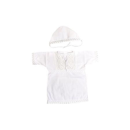 Baby Nice Крестильный набор: кофточка + чепчик, Baby Nice, 3-6 мес.  — 865р.  Крещение  - важное событие в жизни ребенка и его родных. Сделать его торжественней поможет нарядный крестильный набор. Предметы одежды для детей при этом должны быть качественными и безопасными. Набор из рубашки и чепчика из натурального дышащего хлопка, приятного на ощупь. Он не вызывает аллергии, что особенно важно для малышей. Отделаны предметы изысканным кружевом ручной работы. Набор сшит из высококачественных…