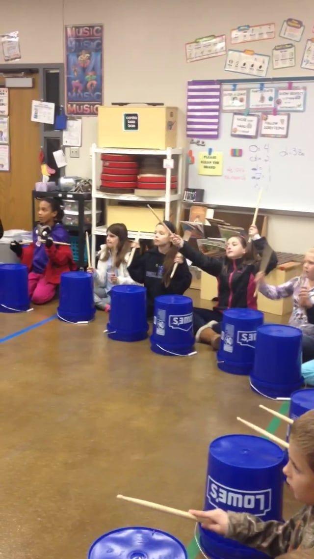 Christmas Bucket Drumming