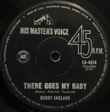 THERE GOES MY BABY / YOUR EYES TELL ON YOU | BUDDY ENGLAND | 7 inch single | $30.00 AUD | music4collectors.com