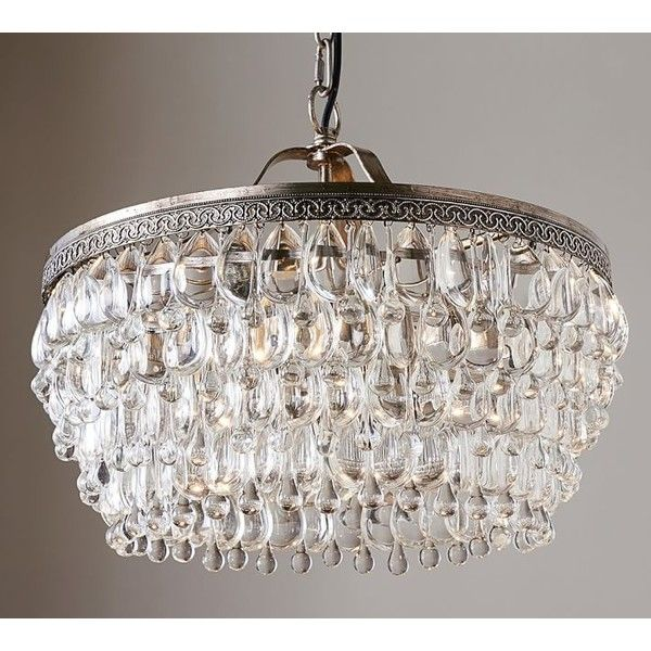 Pottery Barn Clarissa Crystal Drop Round Chandelier 999 Liked On Polyvore Featuring Home