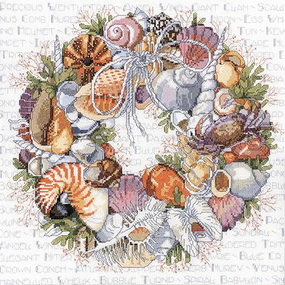 Seashells wreath (con schemi)