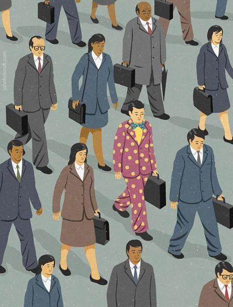 Illustrations satiriques des problèmes courants de la société John Holcroft est un célèbre illustrateur britannique