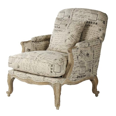 French Post Card Chair