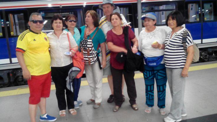 Excursión Europa 2015 Central de Reservas y Turismo usamos el tranvia de Burgos