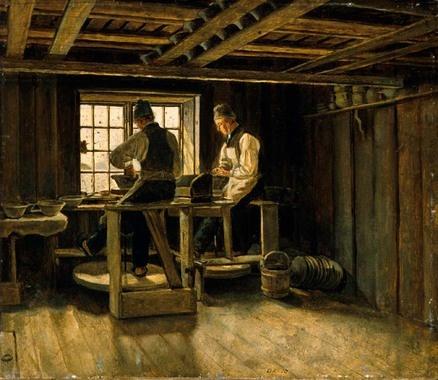 Et pottemakerverksted d'Adolph Tidemand