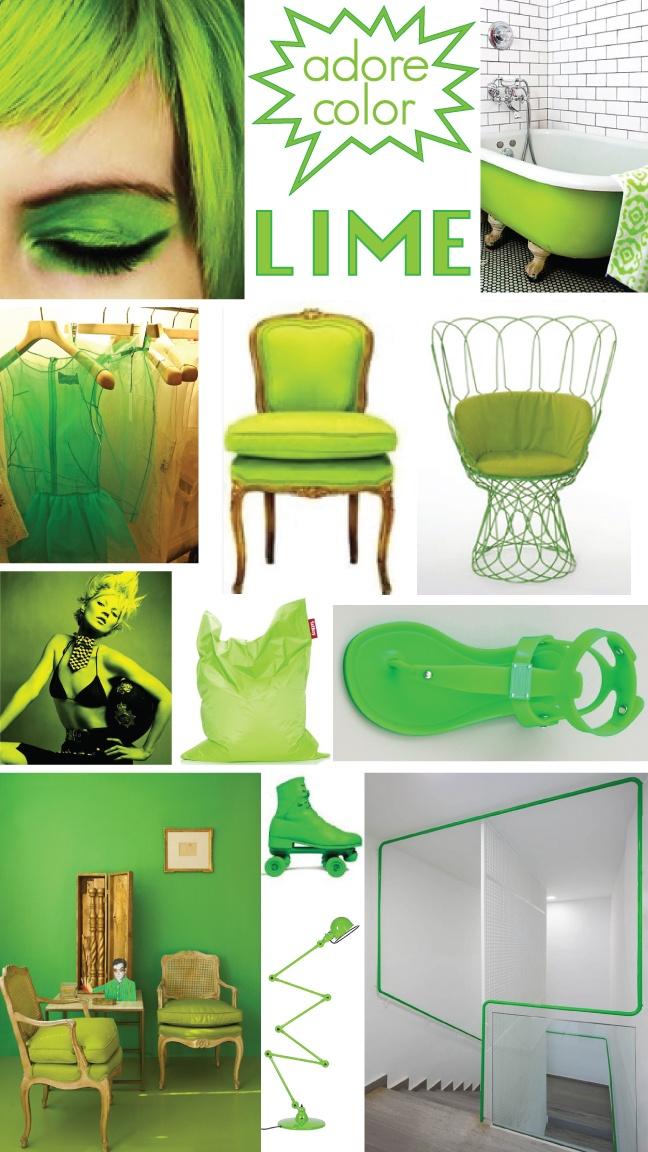Lime green mood board #color #fashion #interior #furniture