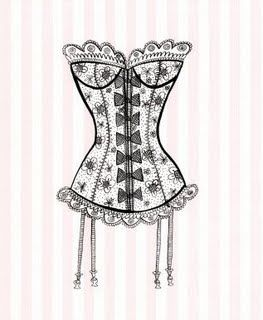 I really like the bows and floral design on this corset. This could be used for Mayme's character mainly because unlike Mrs. Van Buren, Mayme wears corsets to feel like a Fifth Avenue heiress. This corset has an intricate design but still has such a feminine feel to it, as well.