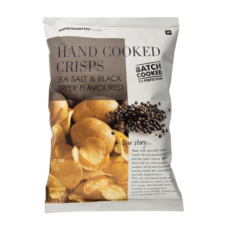 Hand Cooked Sea Salt & Black Pepper Crisps 125g