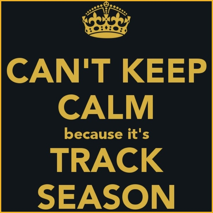 YA'LL KNOW YOU GOTTA GET EXCITED ABOUT TRACK SEASON NO MATTER WHAT!!!