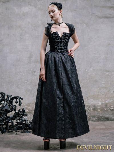 Abito romantico gotico nero Halter Corsetto Prom