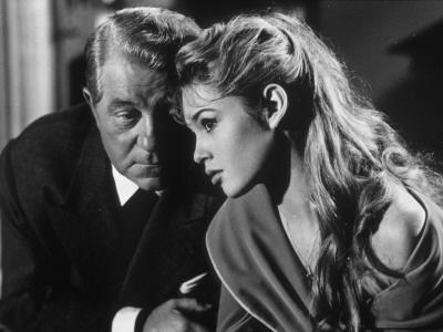 Jean Gabin and Brigitte Bardot in En cas de malheur (1958)