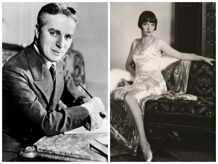 "Chaplin & Brooks~Charlie had a 2-month long affair with Louise Brooks during the summer of 1925.Louise's recollections about Chaplin would not always be so kind. She was quoted as saying that his sexual technique ""was suitable only for little girls.""   Chaplin never publicly acknowledged their affair. However, late in his life he was quoted as saying that she had small breasts, ""like pears."""