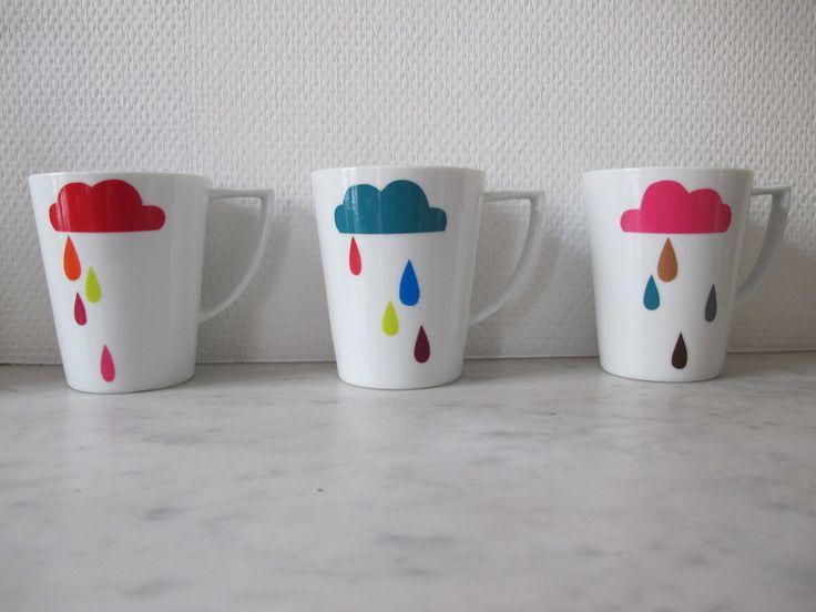 Nuage et pluie # idées posca