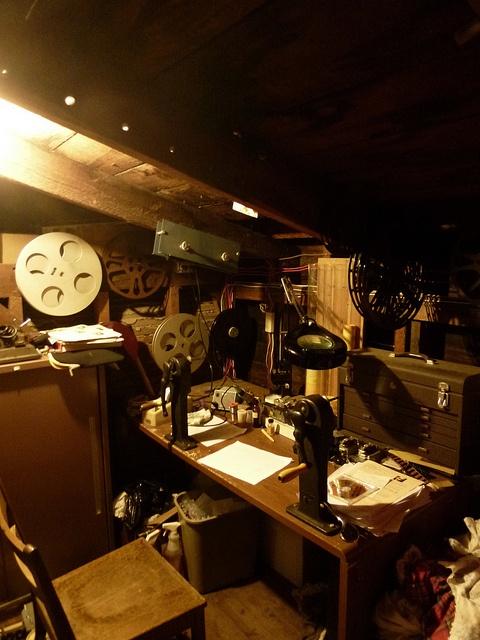 In the Editing Room at Essenay Silent Film Cinema, via Flickr.