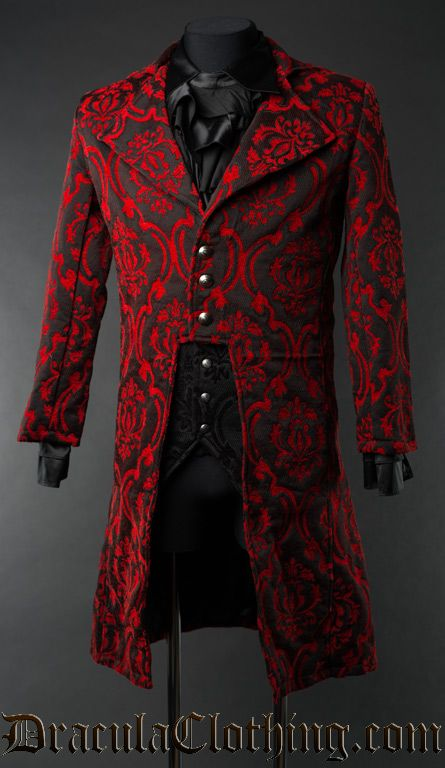 Image result for deep red brocade jacket