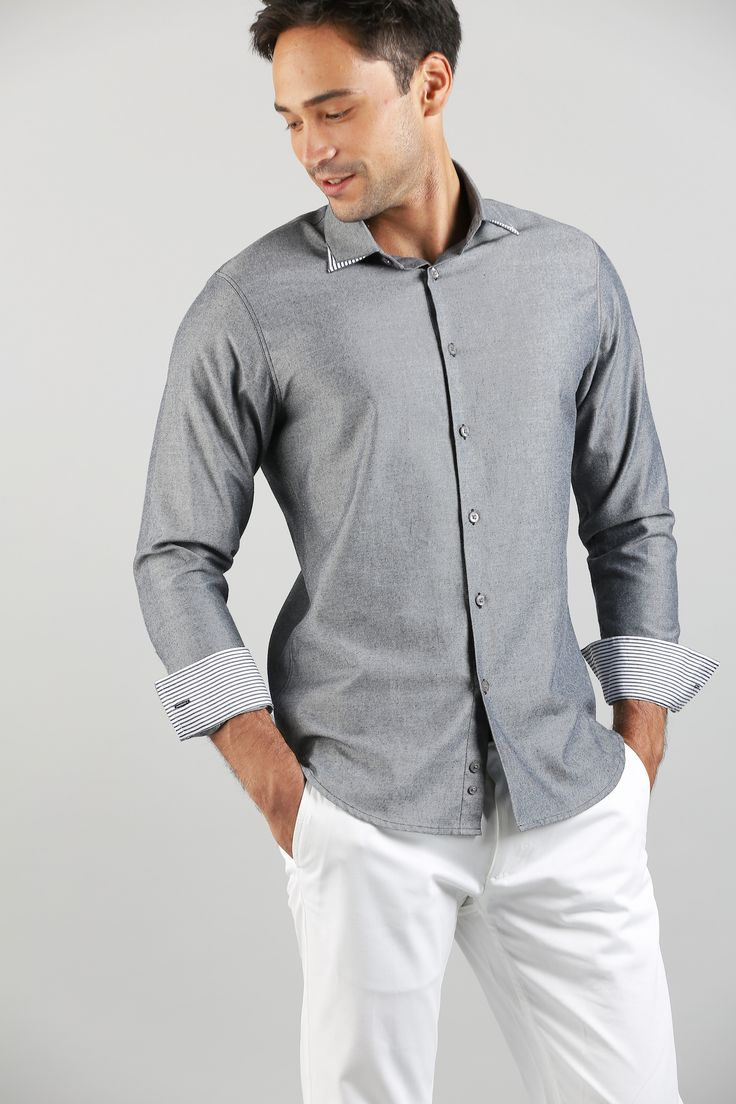 Chambray need not be all blue and boring.