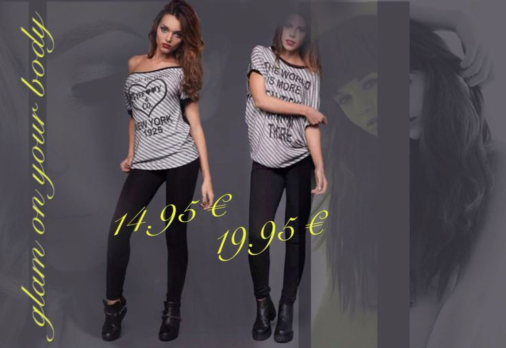 t-shirt righe stampa