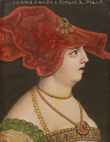Joanna II, siostra Władysława I, królowa Neapolu 1414-1435; podobnie jak Joanna I prowadziła rozpustny tryb życia; Jej 1. mężem był Wilhelm Habsburg, wcześniej narzeczony Jadwigii (1401-06); 2. Jakub de Burbon, który chciał rządzić samodzielnie, lecz został obalony i zmuszony do wygnania (1419); walczyła z Ludwikiem III Anjou i Alfonsem V Wspaniałomyślnym, królem Aragonii i Sycylii - obu obiecywała następstwo; ostatecznie Rene - brat Ludwika III.