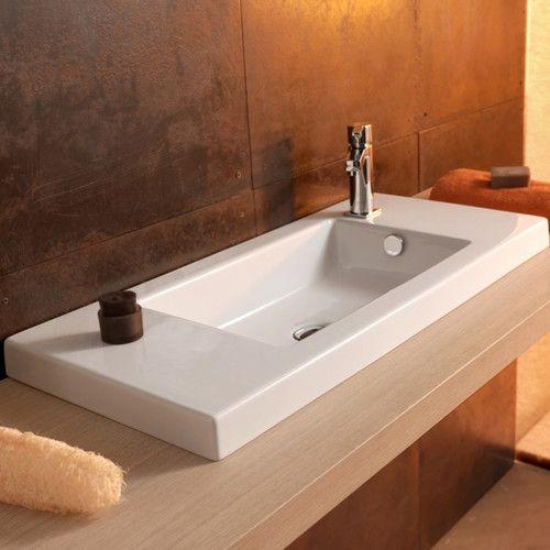 Ceramica Tecla By Nameeks Serie 35 Ceramic Bathroom Sink With Overflow