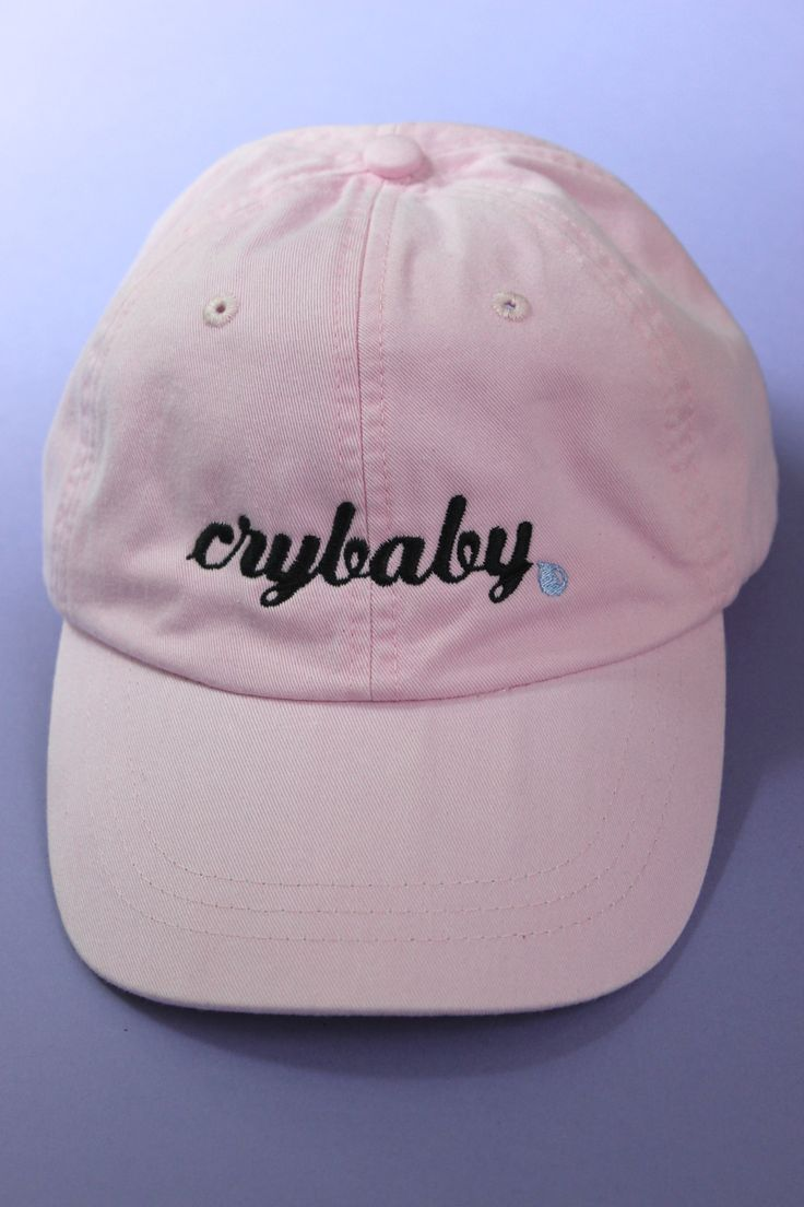 Crybaby Light Pink Baseball Cap More