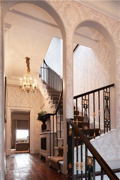 Richardson romanesque victorian house new york upper for New york brownstone interior design
