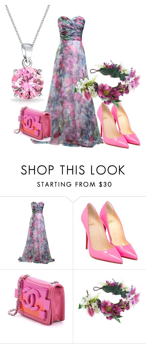 Erika Prom by raluca-belu on Polyvore featuring Christian Louboutin, Chanel, Bling Jewelry and Rock 'N Rose