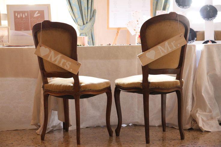 Personalizzare le sedute degli sposi!  Palazzo della Meridiana