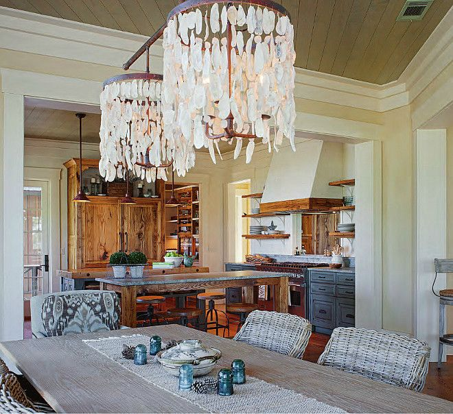 Breathtaking dining room lighting ideas beach house for Lowcountry lighting