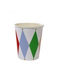 MERI MERI Harlequin Cups / Set of 8