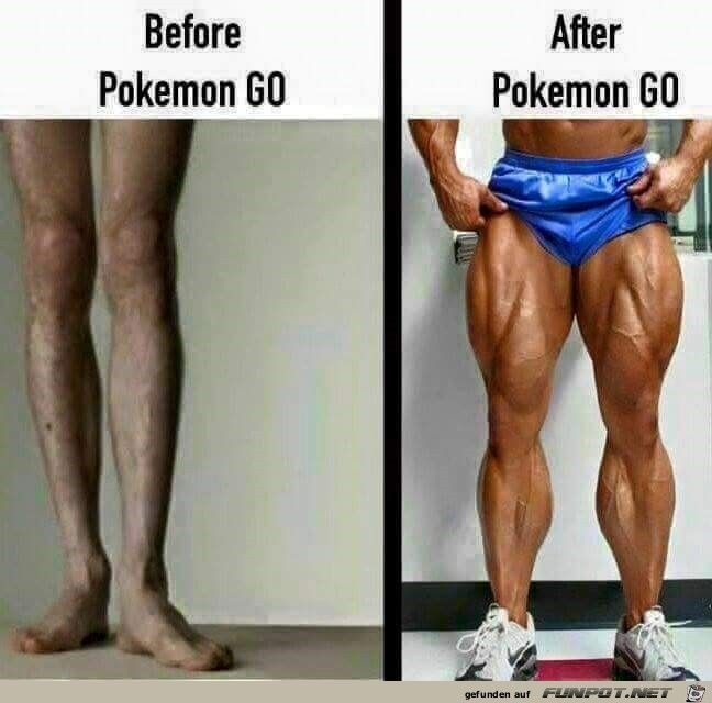 Pokemon Go vorher/nachher