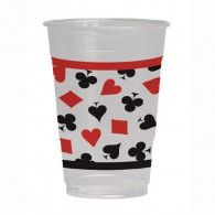 Card Night Printed Plastic Cups Pkt8 $12.95 20018630