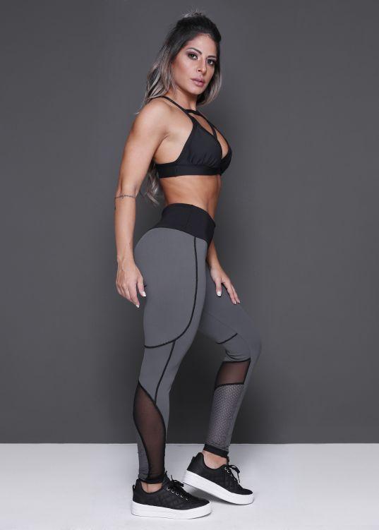 29b0e2aee Legging breeze com tule e tela em suplex poliamida donna carioca moda  fitness e lingerie com