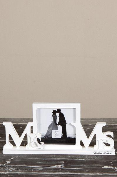 Ramka na zdjęcia MR&MRS 27x12 cm