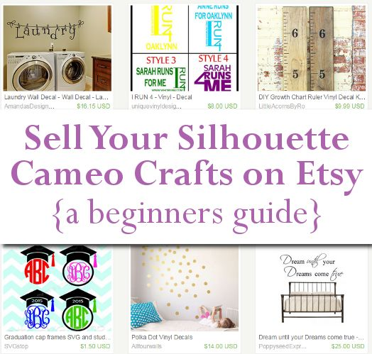 Selling On Etsy Opening Your Shop Silhouettes Craft And Etsy - How to make vinyl decals with silhouette cameo