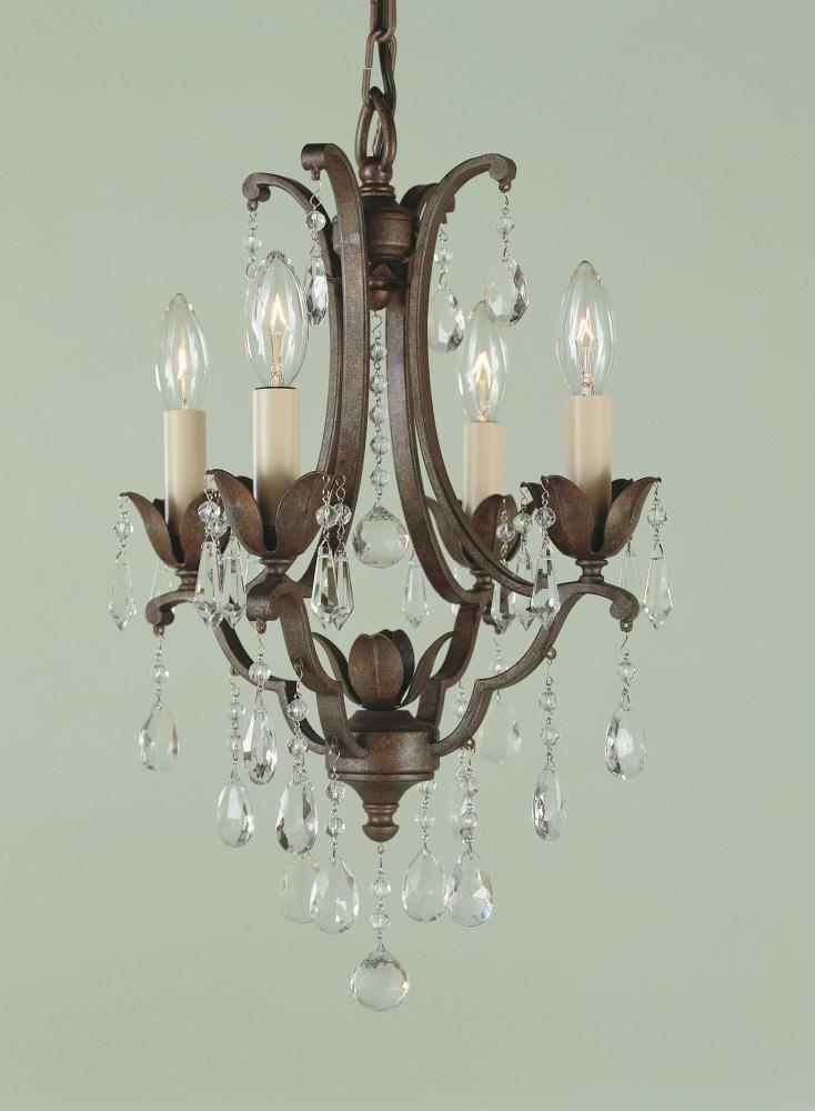 Feiss Maison De Ville 4 Light Chandelier In British Bronze