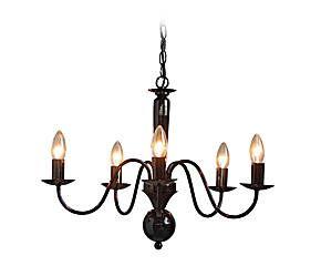 Lámpara de techo de metal con 5 luces tipo araña - negro