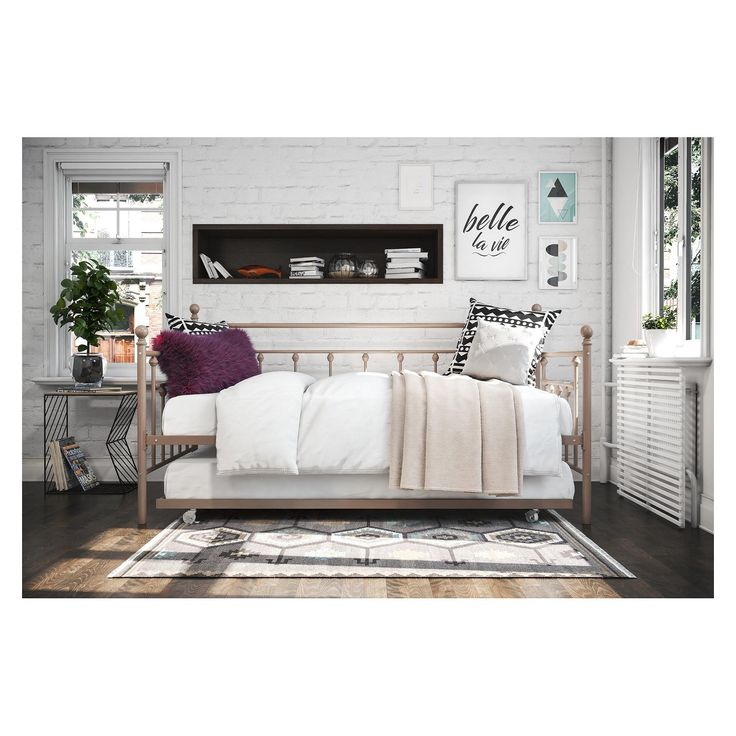 Manila Twin Daybed with Trundle Millennial Pink - Dorel Home Products - image 11 of 13