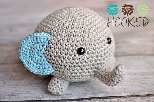 "Elephant - Free Amigurumi Pattern - PDF Format - Click to ""download"" here: http://www.ravelry.com/patterns/library/not-your-everyday-elephant"