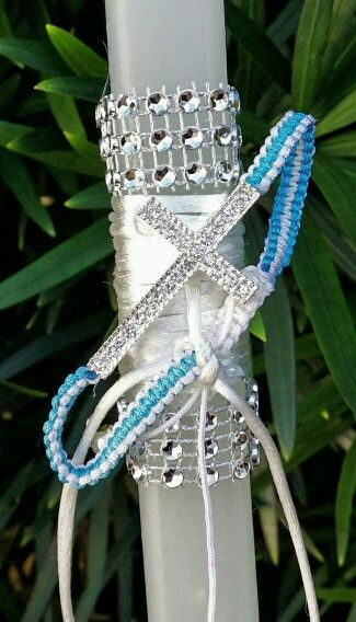 Easter candle with shambala cross bracelet $ 35