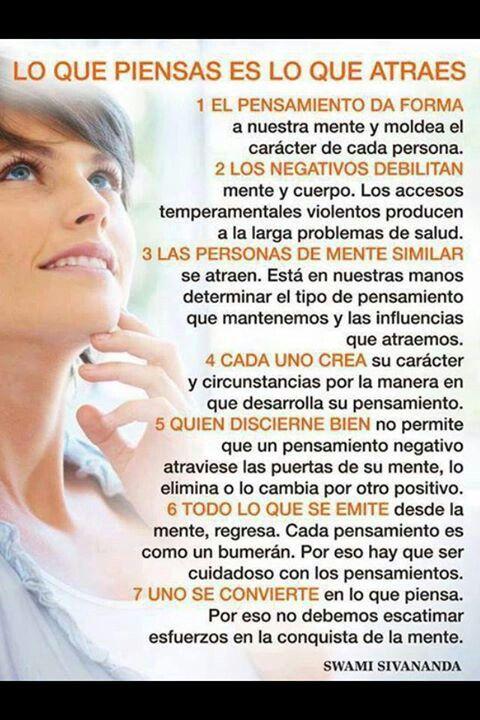 #PensamientoPositivo Lo que piensas es lo que atraes. http://www.gorditosenlucha.com/